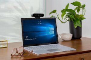 webcam on laptop