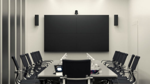 four piece video wall and audio